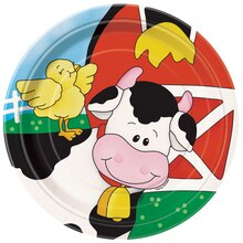 "7"" Farm Party Dessert Plates, 8ct"