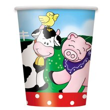 9oz Farm Party Paper Cups, 8ct