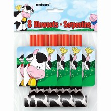 Farm Party Blowers, 8ct