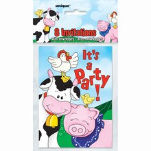 Farm Party Invitations, 8ct