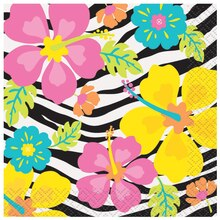 Wild Luau Beverage Napkins, 24ct