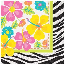 Wild Luau Luncheon Napkins, 20ct