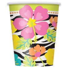 9oz Wild Luau Paper Cups, 8ct