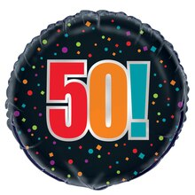 Foil Birthday Cheer 50th Birthday Balloon, 18""