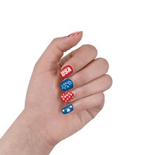 Stars and Stripes Patriotic Nail Stickers, 2 Sets
