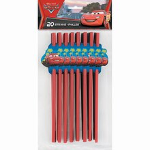 Disney Cars Party Straws, 20ct