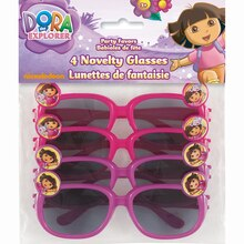 Dora the Explorer Novelty Glasses, 4ct