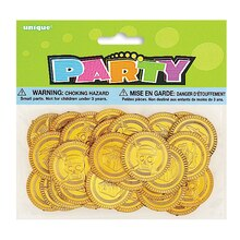 Plastic Gold Treasure Coins, 30ct