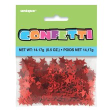 Foil Red Star Confetti, packaging