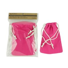 Recollections Craft It Solid Fabric Bags, Fuchsia