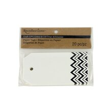 Recollections Craft It Chevron Printed Tags, Black