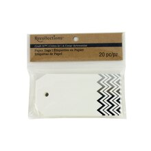 Recollections Craft It Chevron Printed Tags, Silver