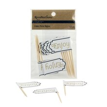 Recollections Craft It Classic Enjoy Cake Pick Signs