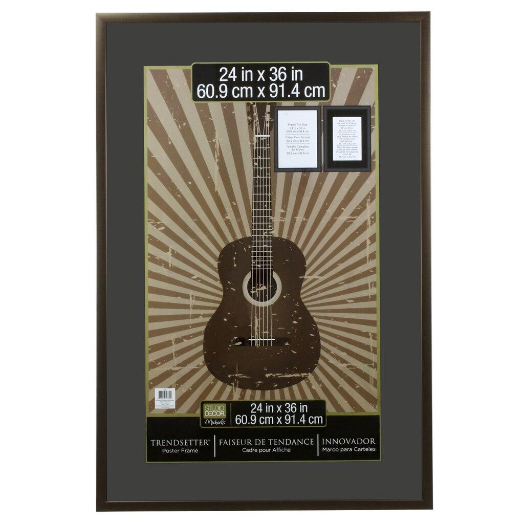 """Bronze Poster Frame, 24"""" X 36"""", Trendsetter™ By Studio Décor®"""