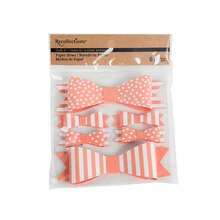 Recollections Craft It Dots & Stripes Paper Bows, Coral