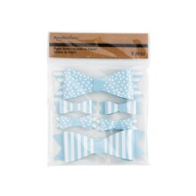 Recollections Craft It Dots & Stripes Paper Bows, Light Blue