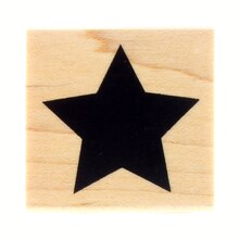 Large Star Wood Stamp by Recollections