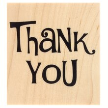 Modern Thank You Wood Stamp by Recollections