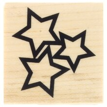 Stars Wood Stamp by Recollections