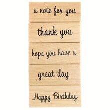 Birthday Greetings Stamp Set by Recollections