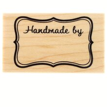 Handmade By Wood Stamp by Recollections
