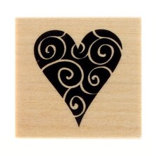 Swirl Heart Stamp by Recollections