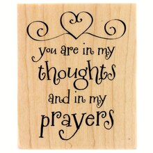 Thoughts & Prayers Wood Stamp by Recollections