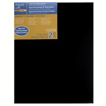 "Artist's Loft Necessities Black Canvas Value Pack, 11"" x 14"""