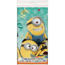"Plastic Despicable Me Table Cover, 84"" x 54"", medium"