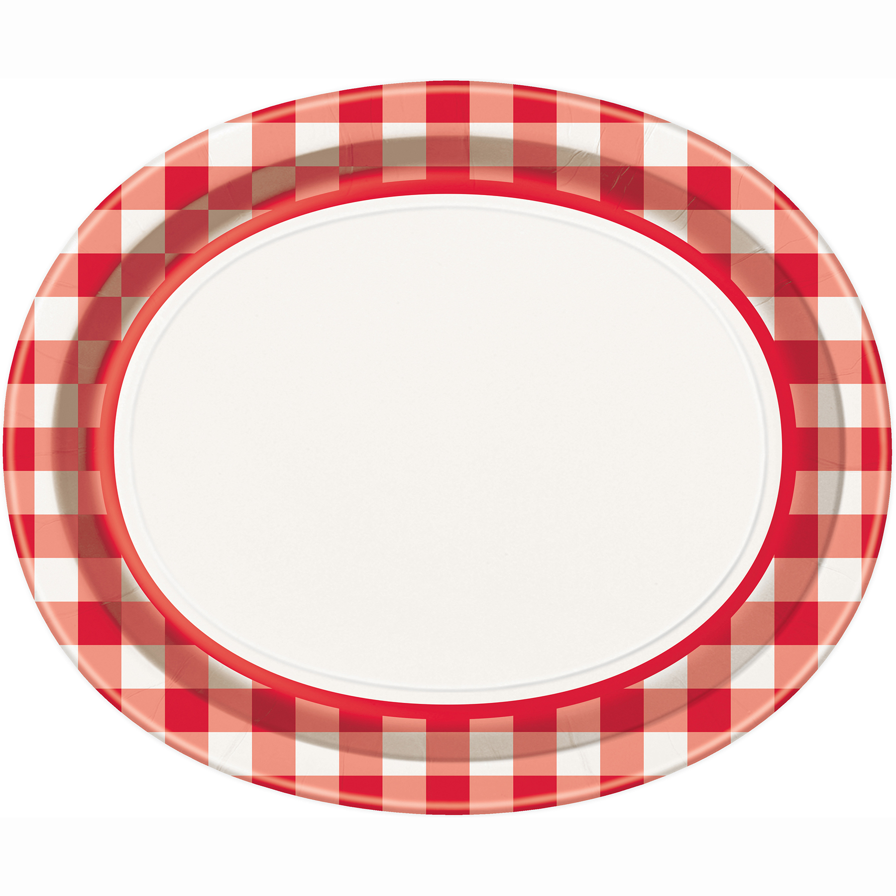 Oval Red u0026 White Gingham Dinner Plates ...  sc 1 st  Michaels Stores : checkered dinner plates - pezcame.com
