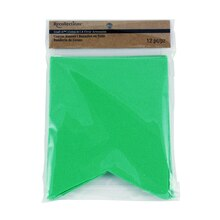 Recollections Craft It Canvas Fishtail Banners, Green