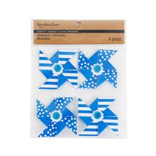 Recollections Craft It Dots & Stripes Paper Pinwheels, Royal