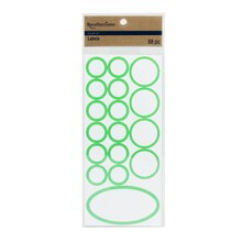 Recollections Craft It Round Labels, Green
