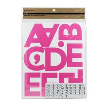 Recollections Craft It Alphabet & Number Stickers, Fuchsia
