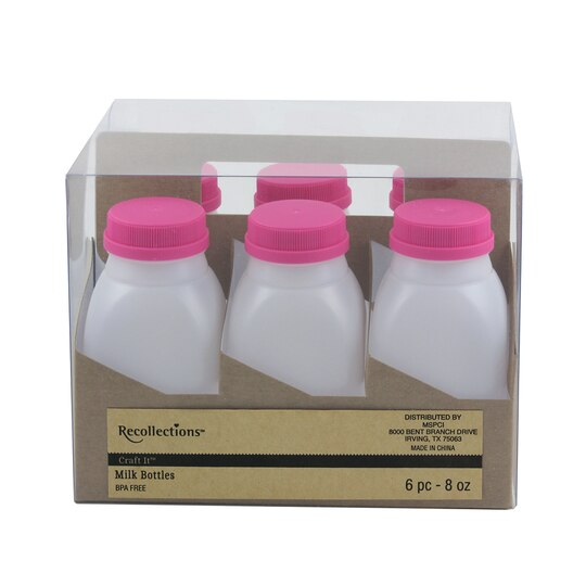 Recollections Craft It Plastic Milk Bottles