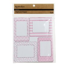 Recollections Craft It Chipboard Frames, Pink