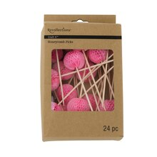 Recollections Craft It Honeycomb Picks, Pink