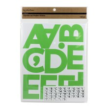 Recollections Craft It Alphabet & Number Stickers, Green
