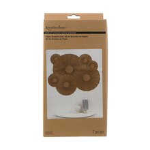 Recollections Craft It Paper Rosettes Kit, Kraft