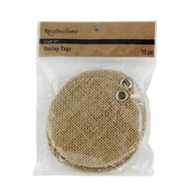Recollections Craft It Round Burlap Tags