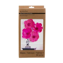 Recollections Craft It Paper Flowers Kit, Fuchsia