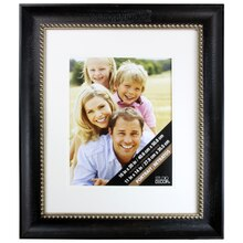 Black Matted Portrait Frame with Pewter Bead by Studio Décor