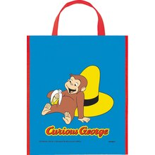 "Large Plastic Curious George Favor Bag, 13"" x 11"""