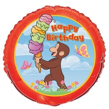 Foil Curious George Birthday Balloon, 18""