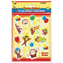 Curious George Sticker Sheets, 4ct