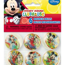 Mickey Mouse Bouncy Balls, 6ct