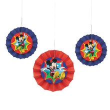 Mickey Mouse Tissue Paper Decorative Fans, 3ct