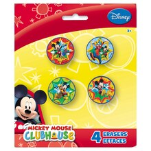 Mickey Mouse Eraser Party Favors, 4ct