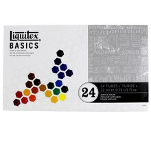 Liquitex BASICS Acrylic Color Set, 24 Count
