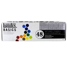 Liquitex BASICS Acrylic Color Set, 48 Count